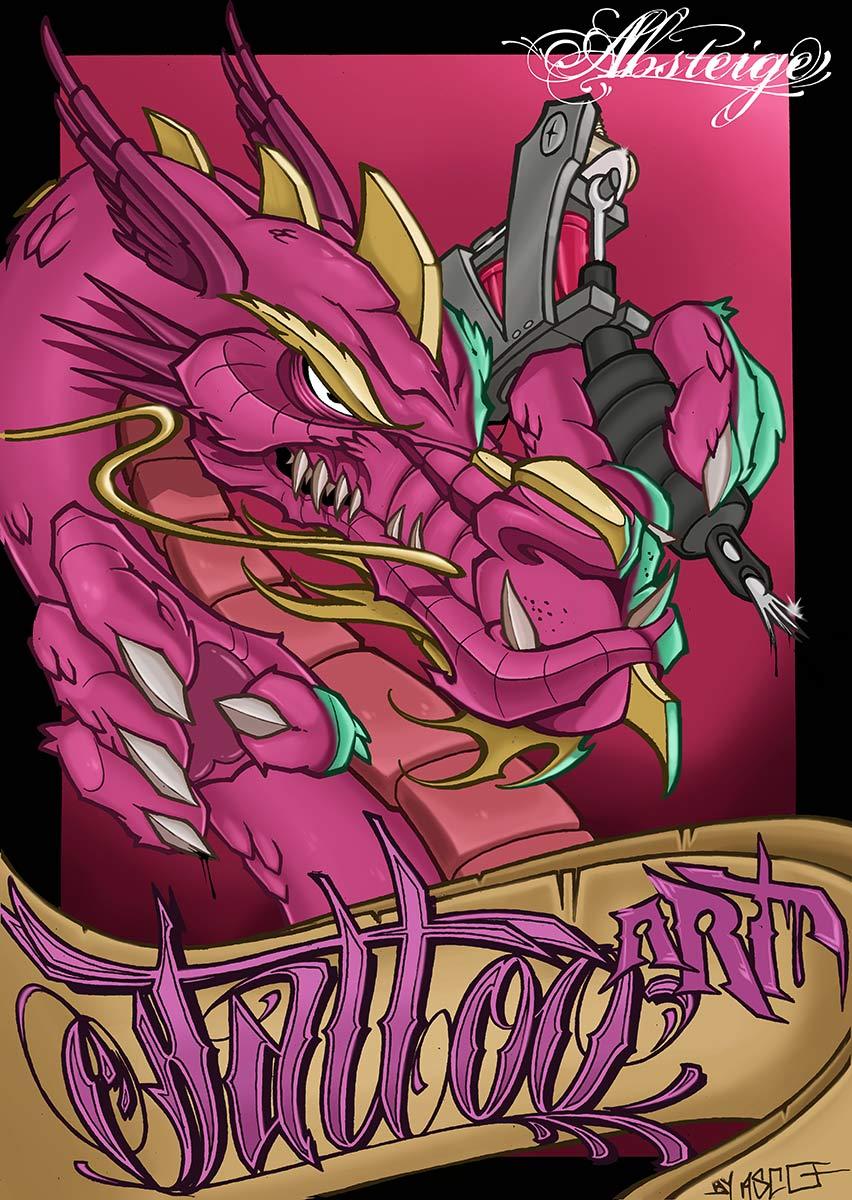 Poster-Absteige-Tattoo-Art