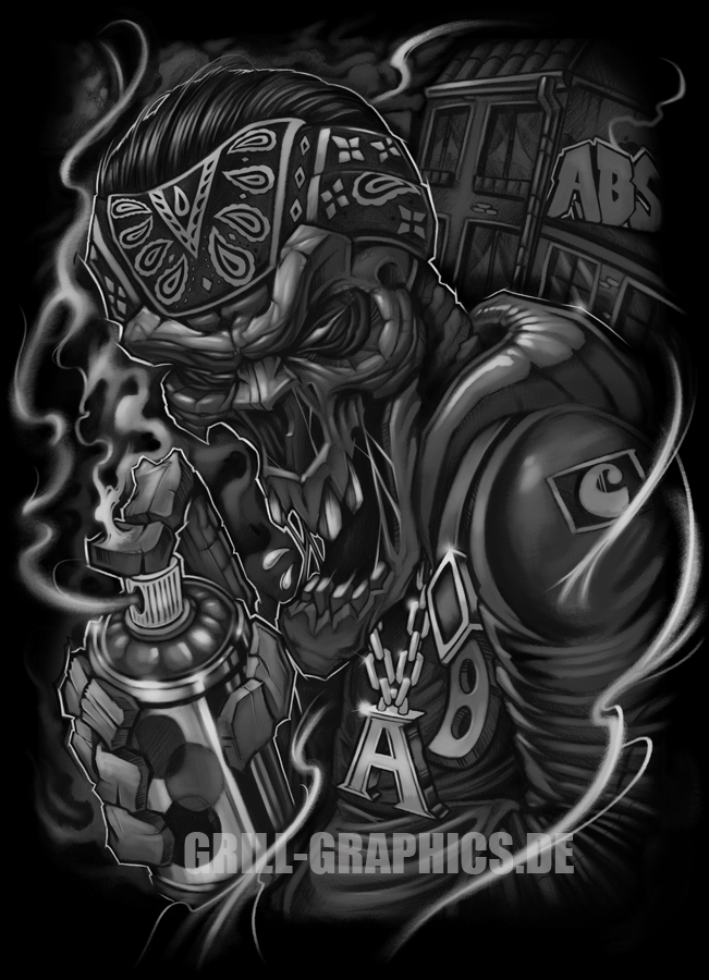 bandana skull.grill.graphics.side